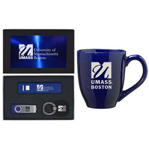 SET-A2-UMASSB-BLU: LXG Set A2 Tech Mug- Massachusetts-Boston