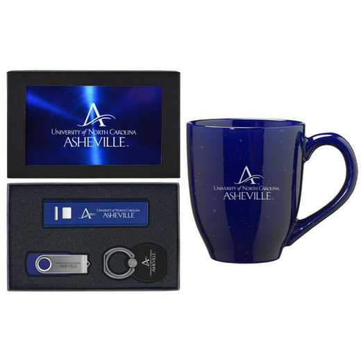 SET-A2-UNCASH-BLU: LXG Set A2 Tech Mug, North Carolina-Ashville