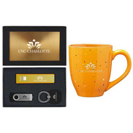 SET-A2-UNCCHAR-GLD: LXG Set A2 Tech Mug, North Carolina-Charlotte