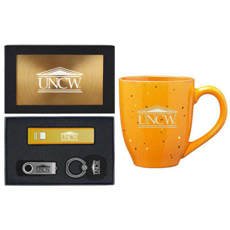 SET-A2-UNCWILM-GLD: LXG Set A2 Tech Mug, North Carolina-Wilmington