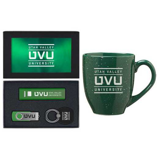 SET-A2-UTVLYST-GRN: LXG Set A2 Tech Mug, Utah Valley