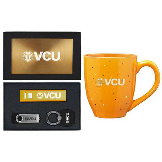SET-A2-VIRGCMNW-GLD: LXG Set A2 Tech Mug, Virginia Commonwealth