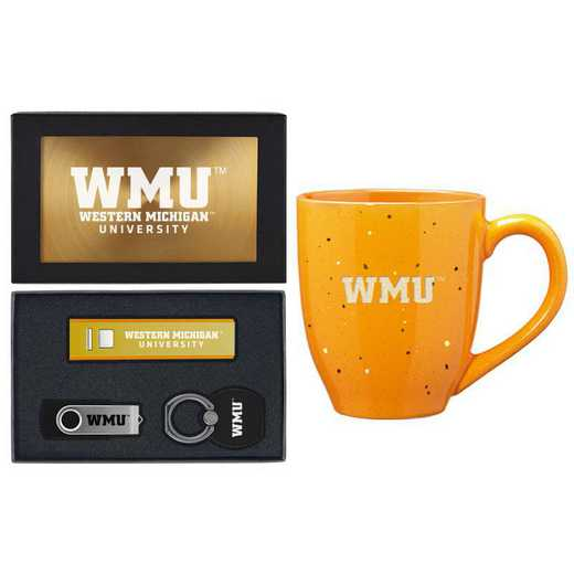 SET-A2-WESTMICH-GLD: LXG Set A2 Tech Mug, Western Michigan