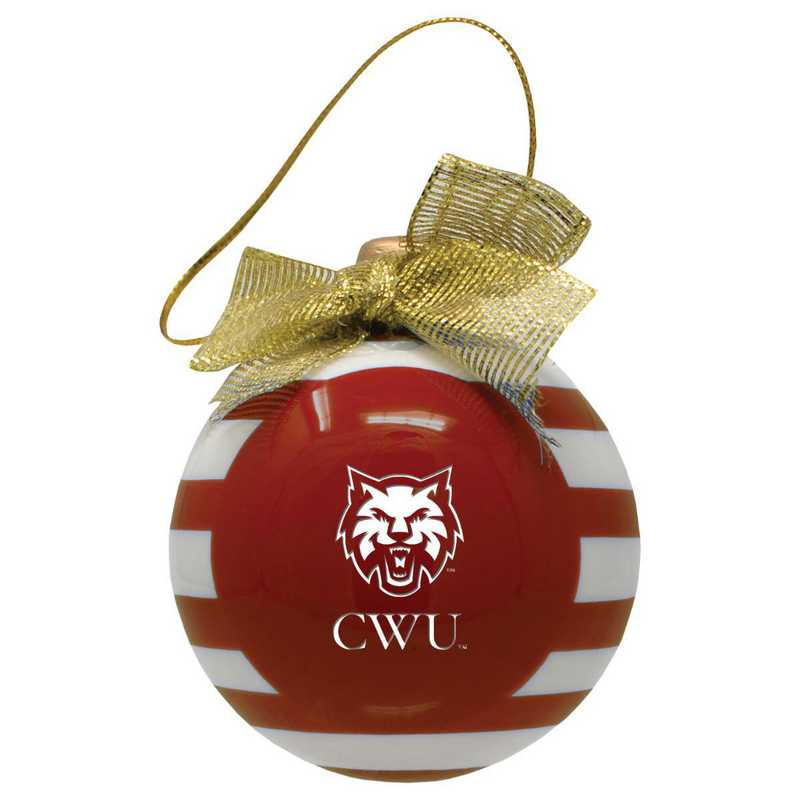 CER-4022-CWU-CLC: LXG CERAMIC BALL ORN, Central Washington