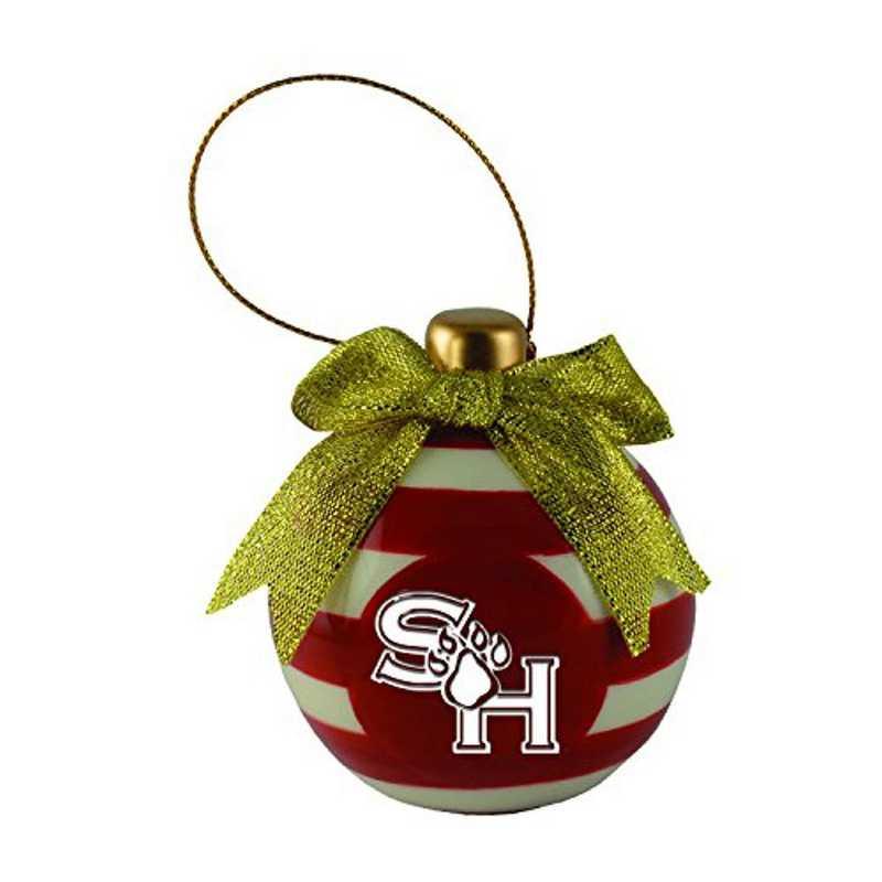 CER-4022-SAMHOUSTN-SMA: LXG CERAMIC BALL ORN, Sam Houston State