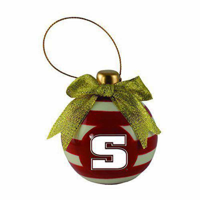 CER-4022-SLPROCK-SMA: LXG CERAMIC BALL ORN, Slippery Rock Univ