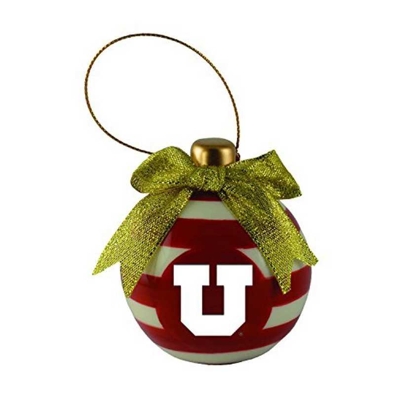 CER-4022-UTAH-CLC: LXG CERAMIC BALL ORN, Utah