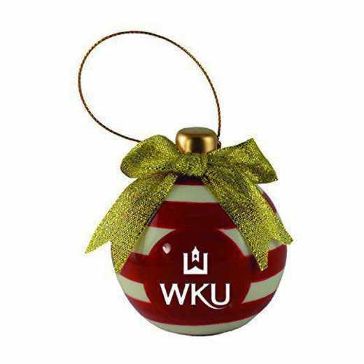 CER-4022-WESTKY-CLC: LXG CERAMIC BALL ORN, Western Kentucky