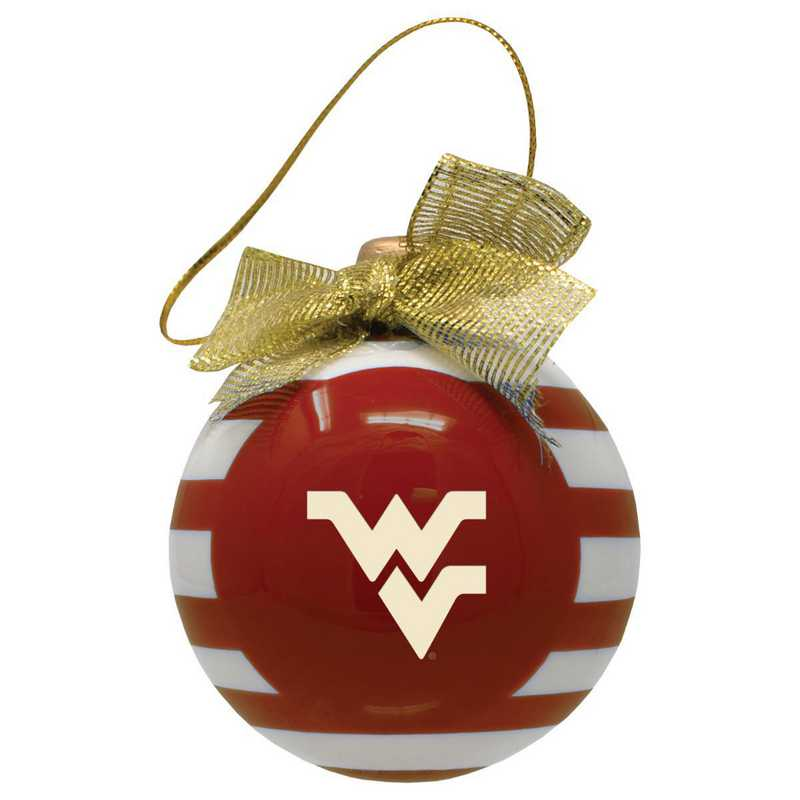 CER-4022-WESTVA-CLC: LXG CERAMIC BALL ORN, West Virginia