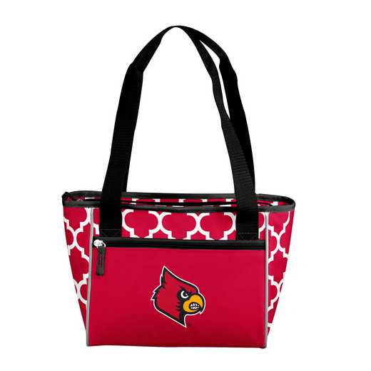 161-83-CR1: NCAA Louisville Qrtrfl 16Can Cooler Tote