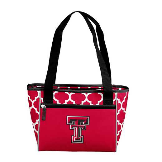 220-83QF: NCAA TX Tech Qrtrfl 16Can Cooler Tote