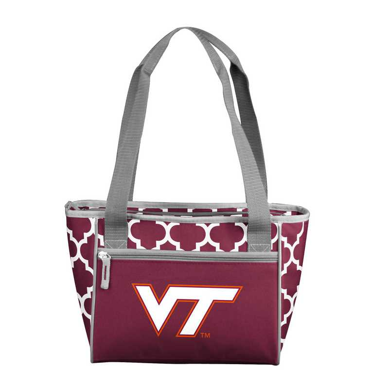 235-83-CR1: NCAA VA Tech Qrtrfl 16Can Cooler Tote