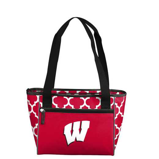 244-83-CR1: NCAA Wisconsin Qrtrfl 16Can Cooler Tote
