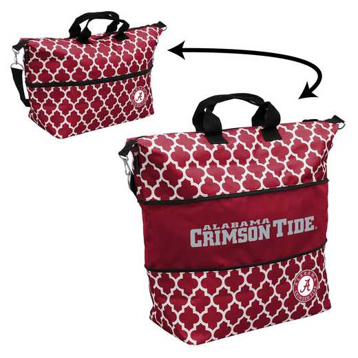 102-665-CR1: LB Alabama Quatrefoil Expandable Tote