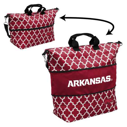 108-665-CR1: LB Arkansas Quatrefoil Expandable Tote