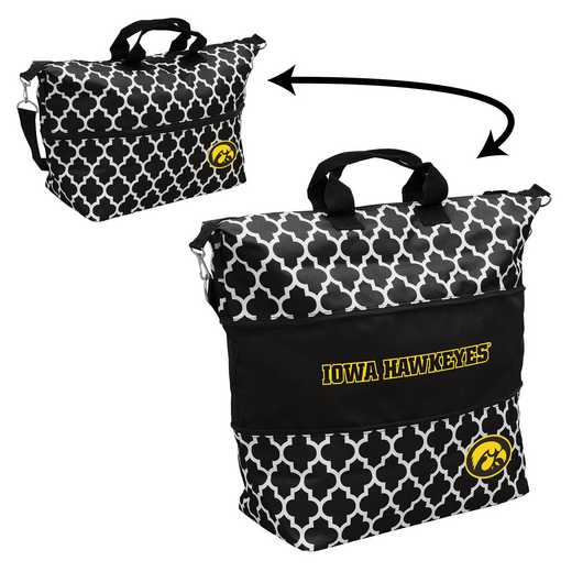 155-665-CR1: LB Iowa Quatrefoil Expandable Tote