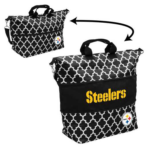 625-665-CR1: LB Pittsburgh Steelers Quatrefoil Expandable Tote