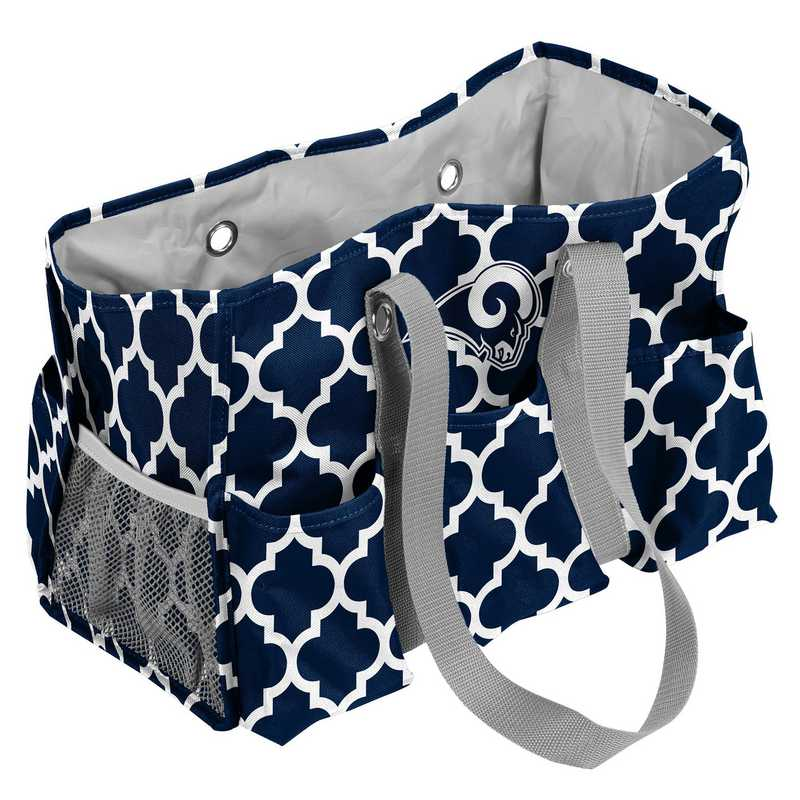 629-865QF-1: LA Rams Navy/White Quatrefoil Jr Caddy
