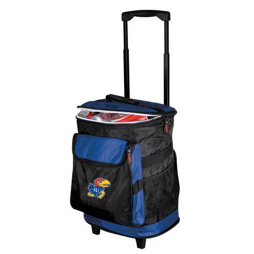 157-57: NCAA Kansas Rolling Cooler
