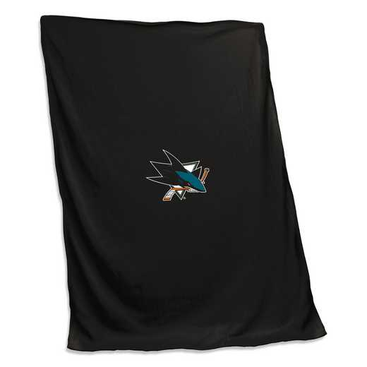 825-74: San Jose Sharks Sweatshirt Blanket