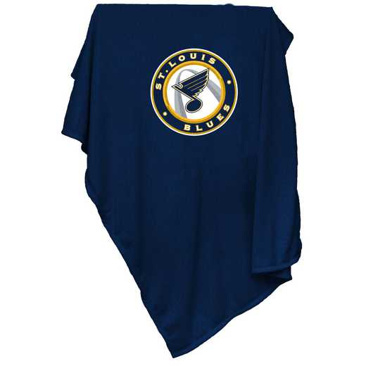 826-74: St Louis Blues Royal Sweatshirt Blanket