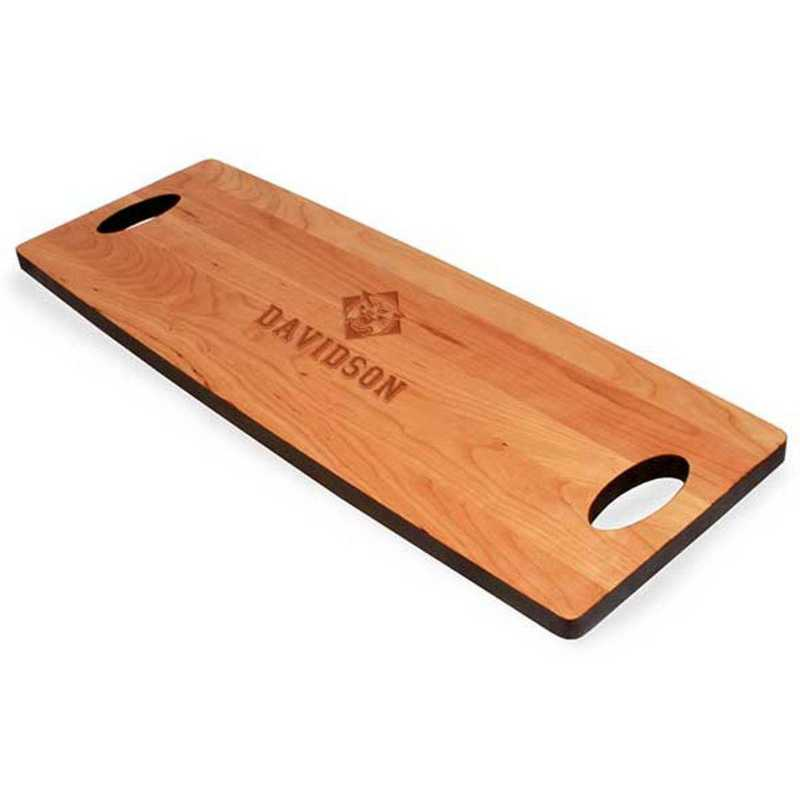 615789103950: Davidson College Cherry Entertaining Board by M.LaHart & Co.