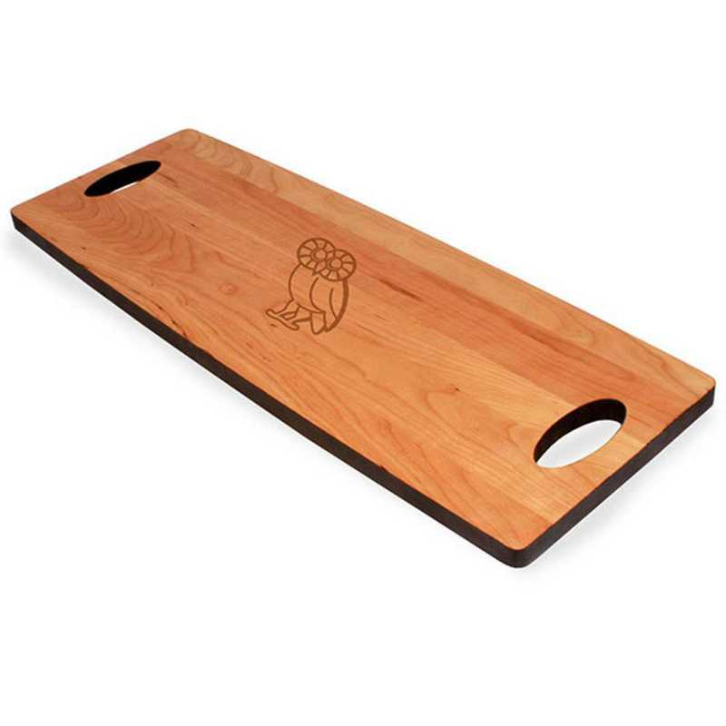 615789220466: Rice UNIV Cherry Entertaining Board by M.LaHart & Co.