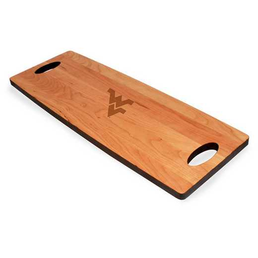 615789888871: West Virginia UNIV Cherry Entertaining Board