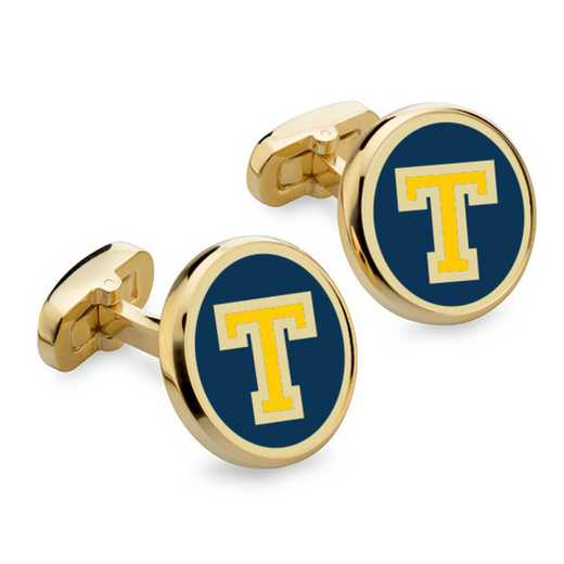 615789051077: Trinity College Enamel Cufflinks by M.LaHart & Co.