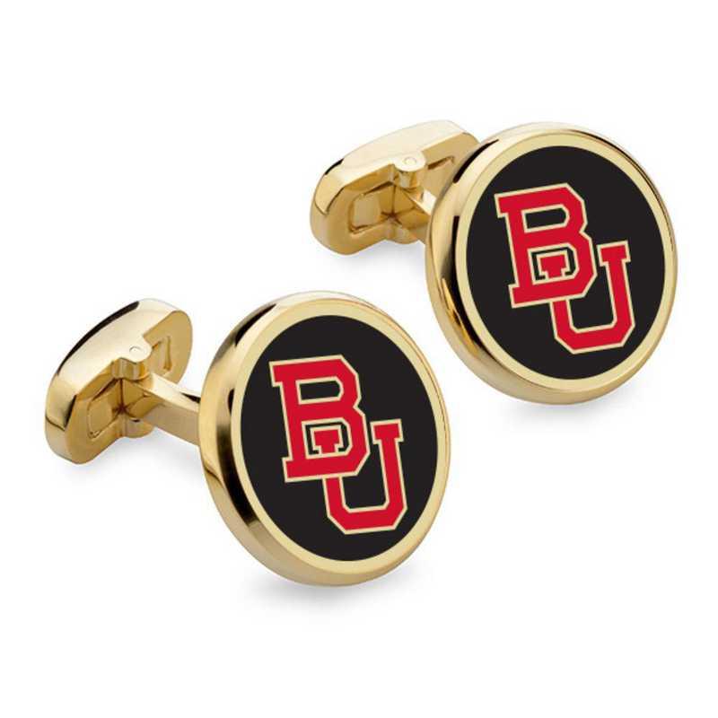 615789149552: Boston University Enamel Cufflinks by M.LaHart & Co.