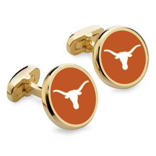 615789403463: University of Texas Enamel Cufflinks by M.LaHart & Co.