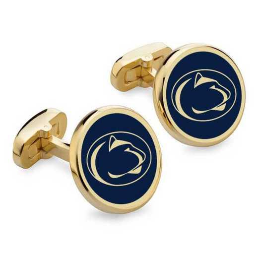 615789482468: Penn State Enamel Cufflinks by M.LaHart & Co.