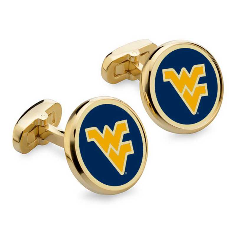 615789678168: West Virginia University Enamel Cufflinks by M.LaHart & Co.