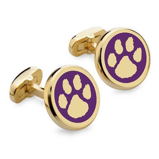 615789697305: Clemson Enamel Cufflinks by M.LaHart & Co.