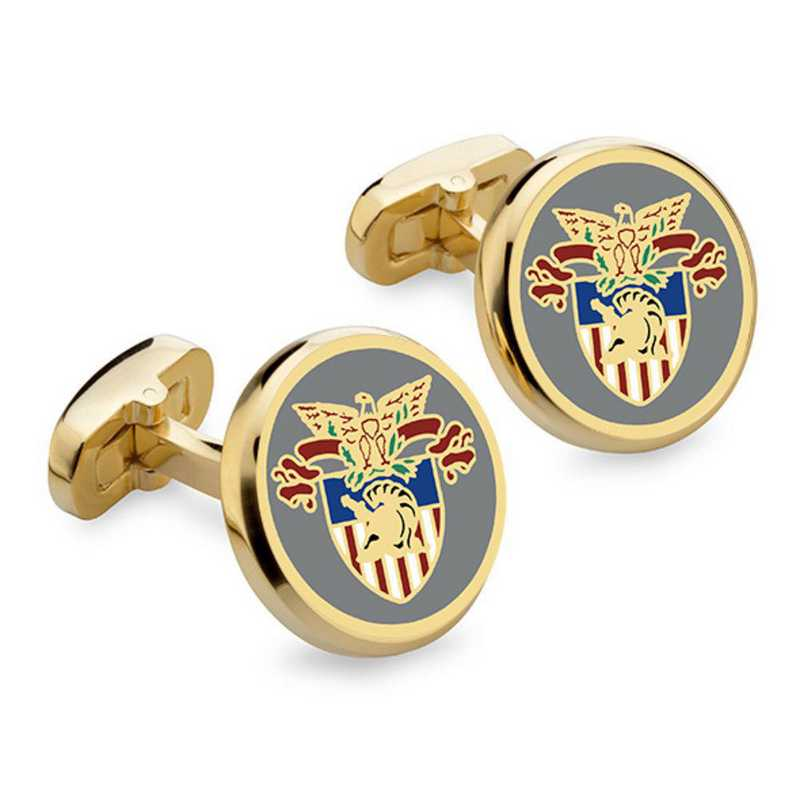 615789760122: West Point Enamel Cufflinks by M.LaHart & Co.