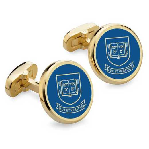 615789780373: Yale Enamel Cufflinks by M.LaHart & Co.