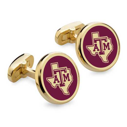615789850250: Texas A&M Enamel Cufflinks by M.LaHart & Co.