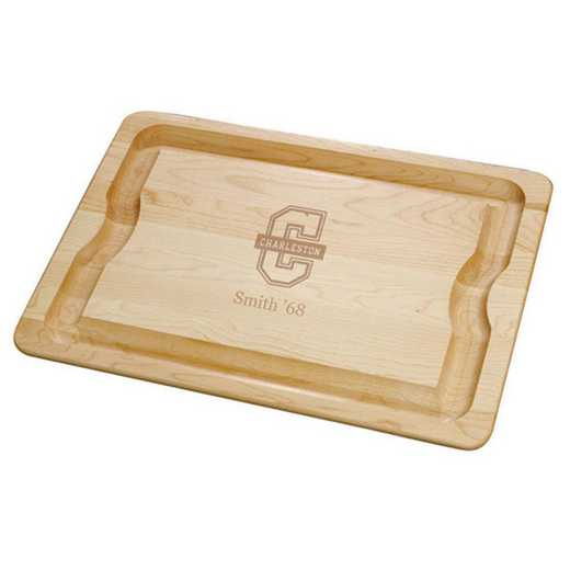 615789496403: College of Charleston Maple Cutting Board by M.LaHart & Co.