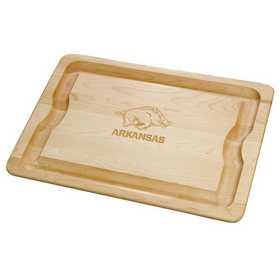 615789548379: UNIV of Arkansas Maple Cutting Board by M.LaHart & Co.