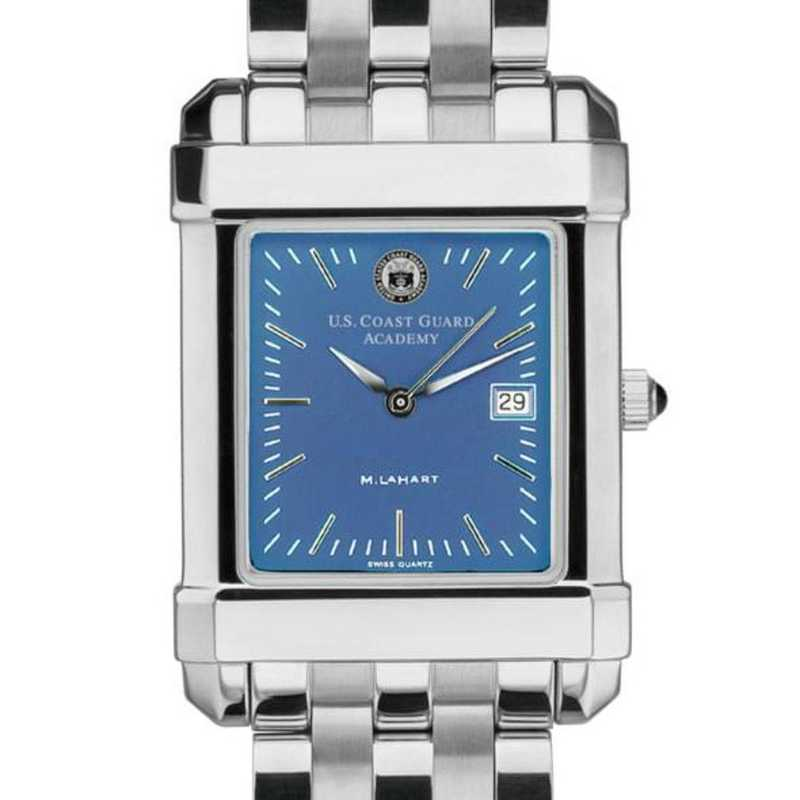 615789777182: Men's Steel Quad Blue Dial with Bracelet
