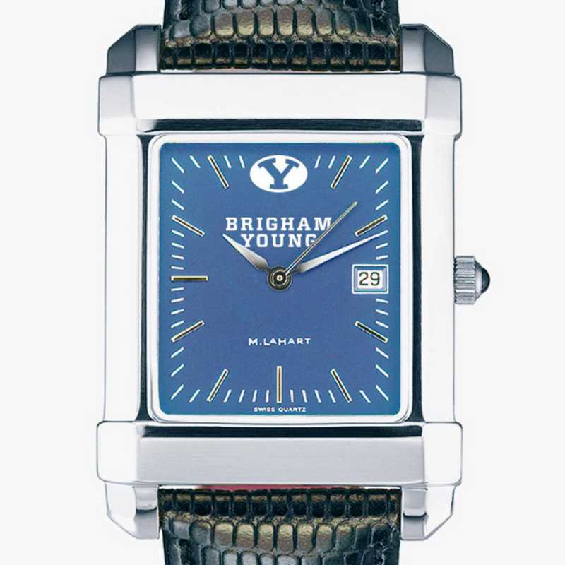 615789169604: Men's Steel Quad Blue Dial with Leather