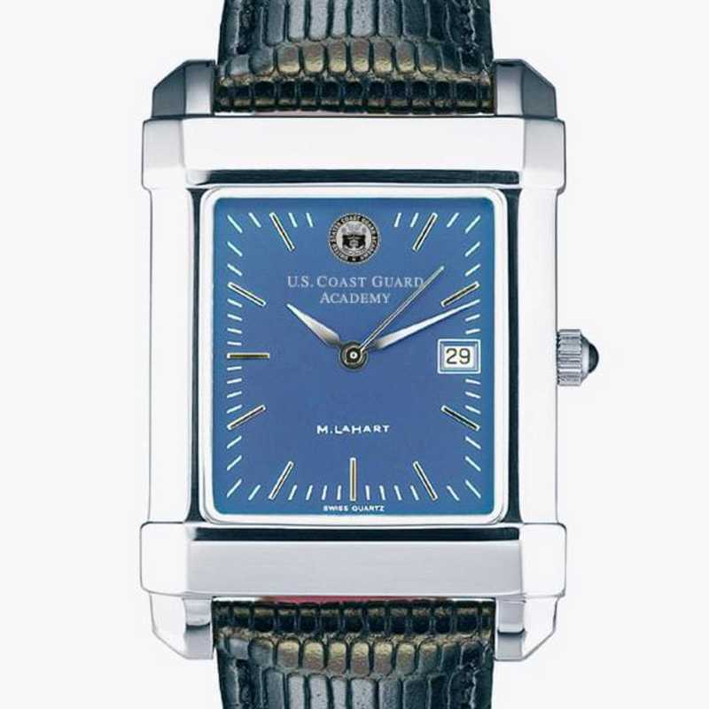 615789750758: Men's Steel Quad Blue Dial with Leather