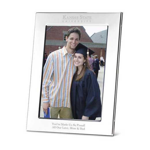 615789036241: Kansas State Univ plshed Pewter 5x7  Frame by M.LaHart & Co.