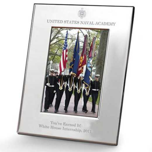 615789614609: Naval Academy plshed Pewter 5x7  Frame by M.LaHart & Co.