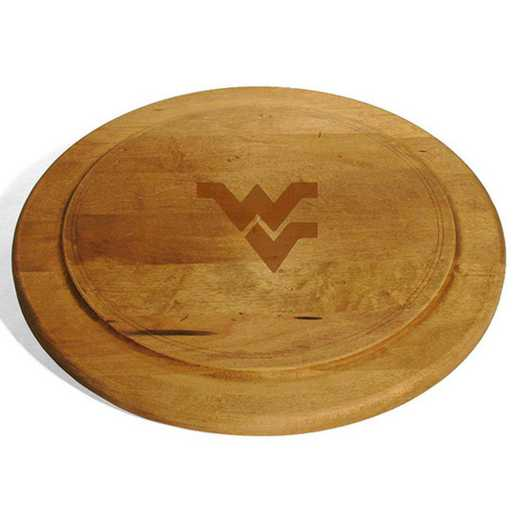 615789262374: West Virginia UnivRound Bread Server by M.LaHart & Co.