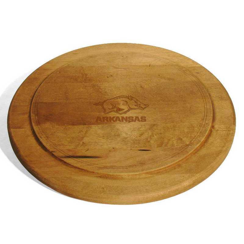 615789536819: University of Arkansas Round Bread Server by M.LaHart & Co.