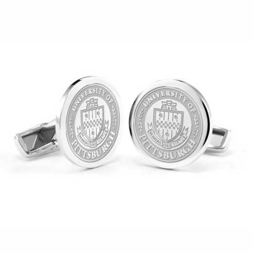 615789111184: Pitt Cufflinks in Sterling Silver