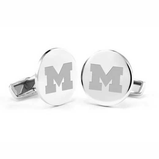 615789232889: University of Michigan Cufflinks in Sterling Silver
