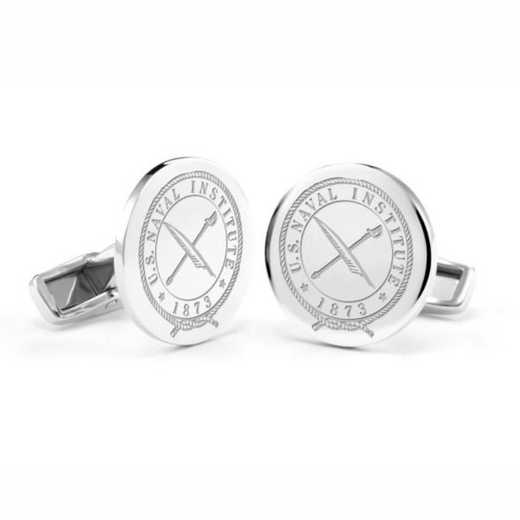 615789292227: U.S. Naval Institute Cufflinks in Sterling Silver