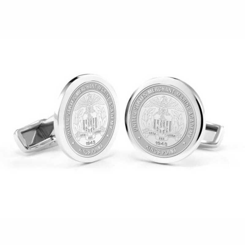 615789398233: US Merchant Marine Academy Cufflinks in Sterling Silver